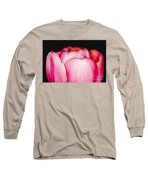 Close-up Of A Pink Tulip Long Sleeve T-Shirt