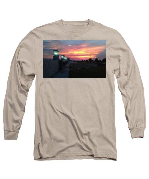 Closed Flood Gates Sunset Long Sleeve T-Shirt