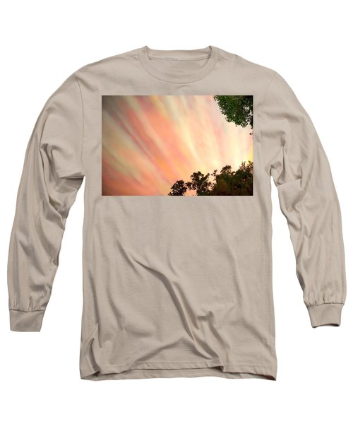 Long Sleeve T-Shirt featuring the photograph Cloud Streams by Charlotte Schafer