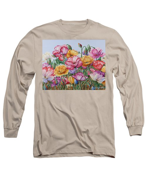 Coastal Poppies Long Sleeve T-Shirt