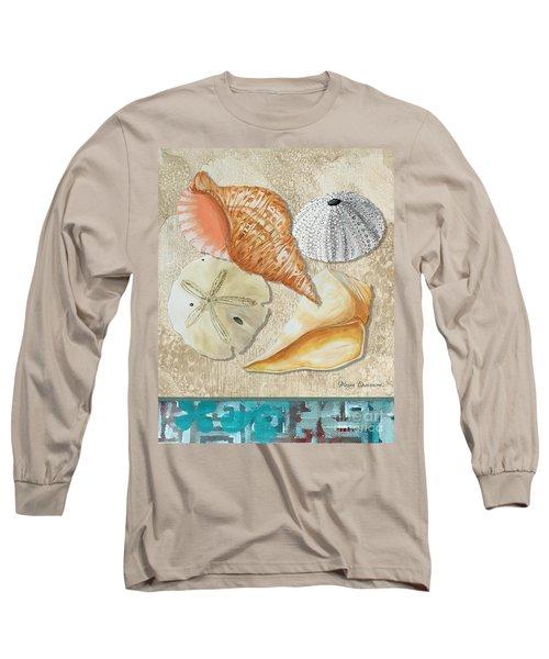 Coastal Sea Shell Painting Original Art At The Beach By Megan Duncanson Long Sleeve T-Shirt