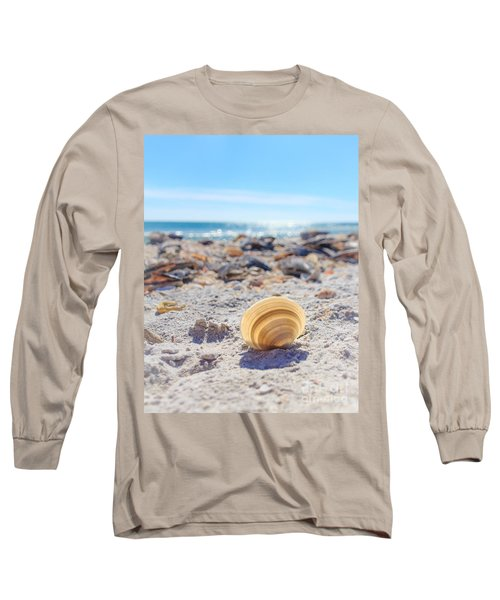 Long Sleeve T-Shirt featuring the photograph Cockle Shell Summer At Sanibel by Peta Thames