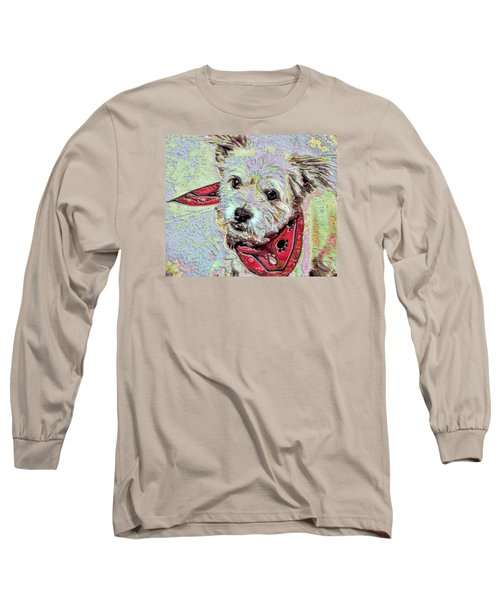 Cocoa On The Poster Long Sleeve T-Shirt by Vickie G Buccini