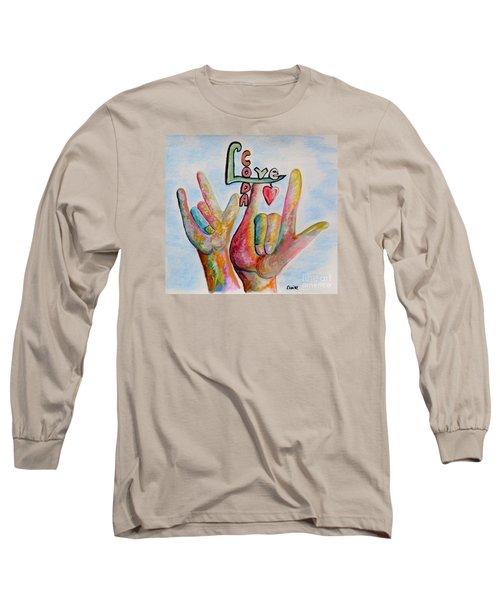 Coda - Children Of Deaf Adults Long Sleeve T-Shirt by Eloise Schneider