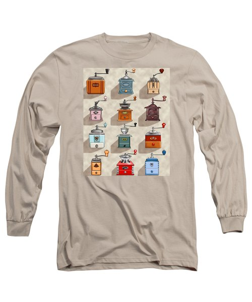 Coffee Grinder Wall Long Sleeve T-Shirt