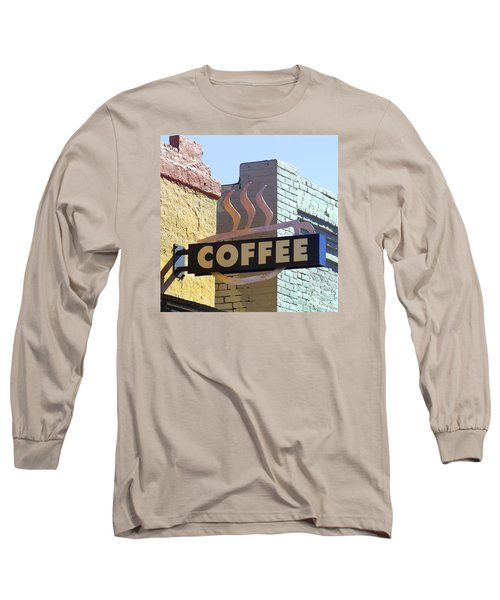 Coffee Shop Long Sleeve T-Shirt by Art Block Collections