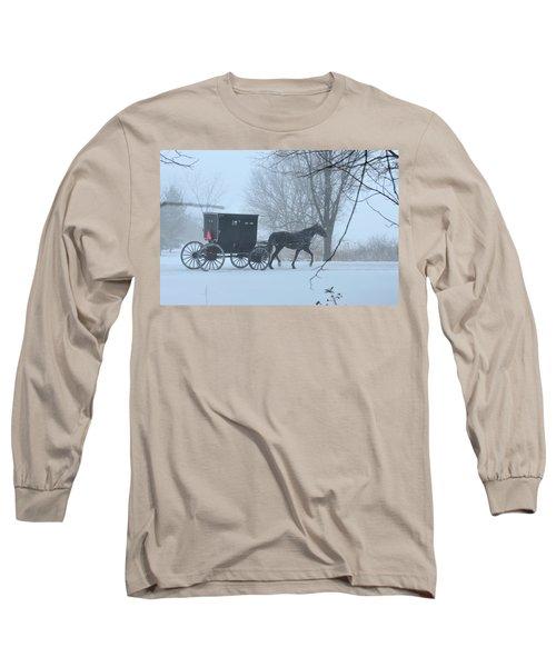 Cold Amish Morning Long Sleeve T-Shirt
