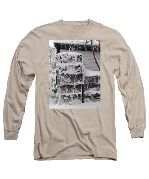 Long Sleeve T-Shirt featuring the photograph Cold Lobster Trap by Robert Nickologianis