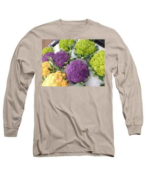 Long Sleeve T-Shirt featuring the photograph Colorful Cauliflower by Caryl J Bohn