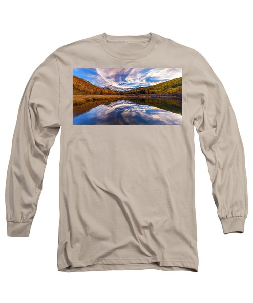 Colorful Reflection Long Sleeve T-Shirt by Steven Reed