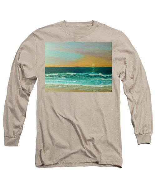 Colorful Sunset Beach Paintings Long Sleeve T-Shirt