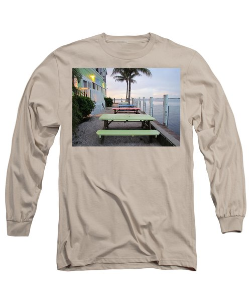 Long Sleeve T-Shirt featuring the photograph Colorful Tables by Cynthia Guinn