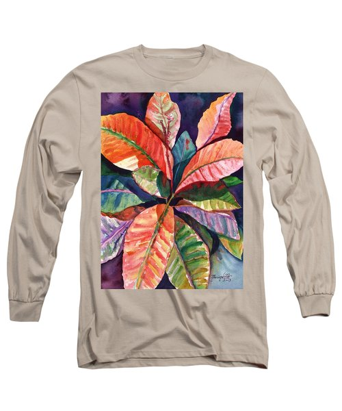 Colorful Tropical Leaves 1 Long Sleeve T-Shirt