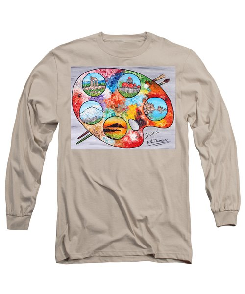 Colori Di Sicilia Long Sleeve T-Shirt