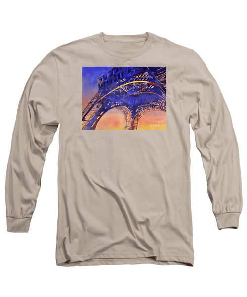 Colors Of Paris- Eiffel Tower Long Sleeve T-Shirt by Ryan Fox