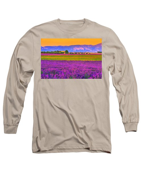 Colors Of Provence Long Sleeve T-Shirt by Midori Chan