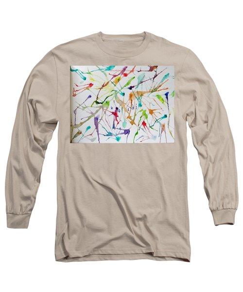 Colourful Holi Long Sleeve T-Shirt by Sonali Gangane