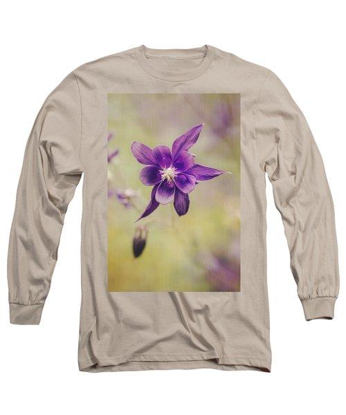 Columbine Flower Long Sleeve T-Shirt