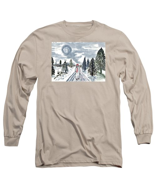 Long Sleeve T-Shirt featuring the painting Coming Home by Connie Valasco
