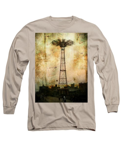 Coney Island Eiffel Tower Long Sleeve T-Shirt