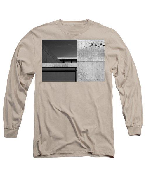 Contemporary Concrete Block Architecture Tree Long Sleeve T-Shirt