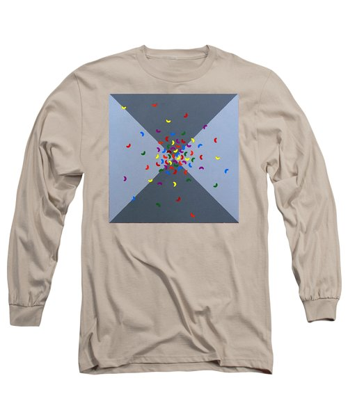 Long Sleeve T-Shirt featuring the painting Cool Beans 4 by Thomas Gronowski