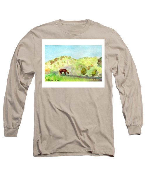 Cool Drink Long Sleeve T-Shirt by C Sitton