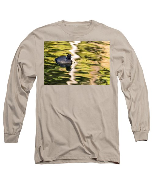 Long Sleeve T-Shirt featuring the photograph Coot Reflected by Kate Brown