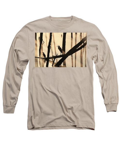 Cormorant And The Heron Long Sleeve T-Shirt
