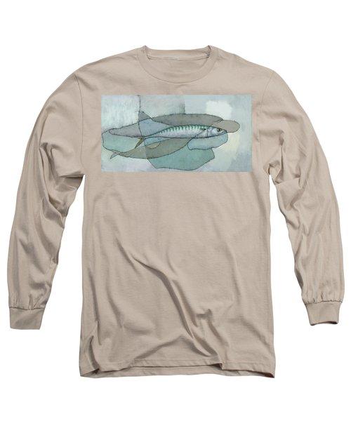 Cornish Mackerel Long Sleeve T-Shirt by Steve Mitchell