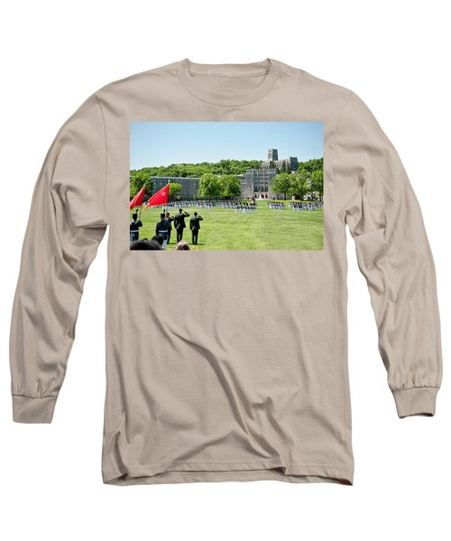 Corps Of Cadets Present Arms Long Sleeve T-Shirt by Dan McManus