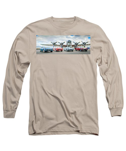Corvettes With B17 Bomber Long Sleeve T-Shirt