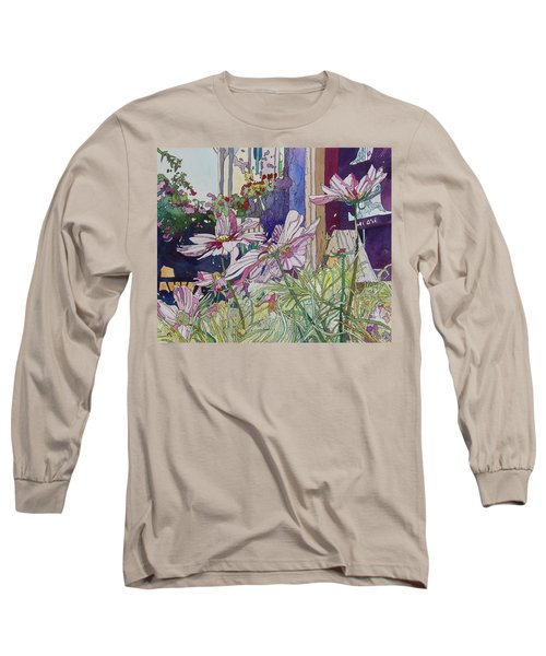 Cosmos At The Coffee Shoppe Long Sleeve T-Shirt