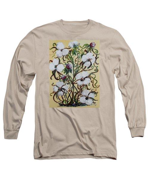 Cotton #1 - King Cotton Long Sleeve T-Shirt by Eloise Schneider