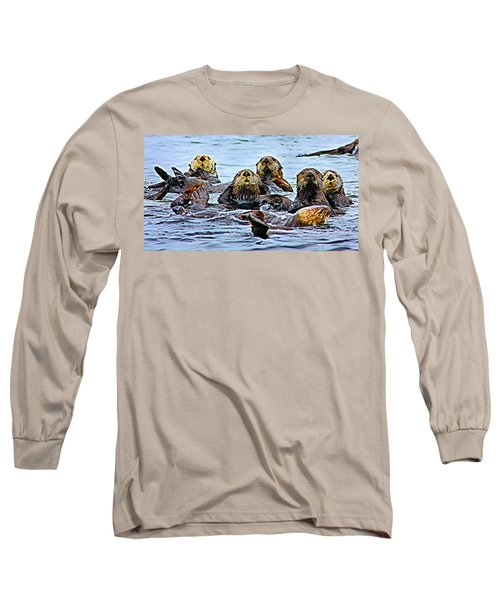 Long Sleeve T-Shirt featuring the photograph Couch Critters by Kristin Elmquist