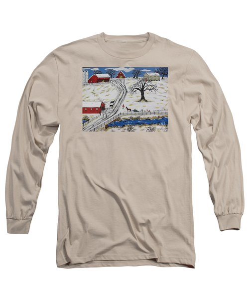 Country Christmas Tree Long Sleeve T-Shirt by Jeffrey Koss