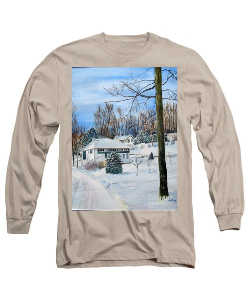 Country Club In Winter Long Sleeve T-Shirt by Christine Lathrop
