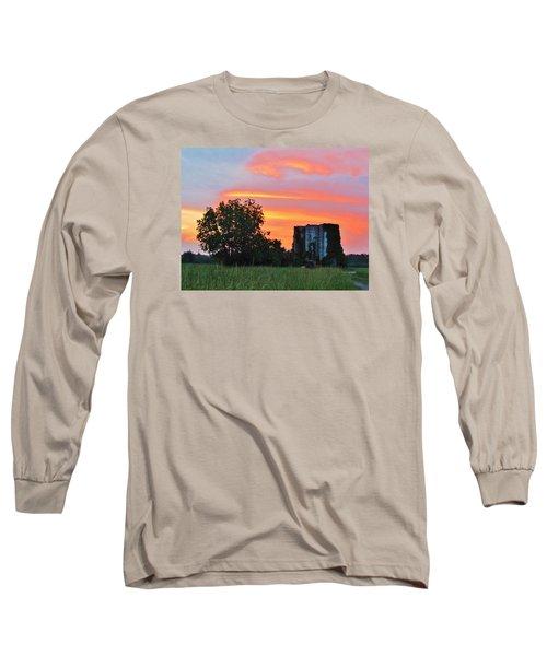 Country Sky Long Sleeve T-Shirt by Cynthia Guinn