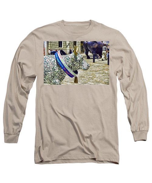 Cow Parade N Y C  2000 - Live Stock Cow Long Sleeve T-Shirt by Allen Beatty