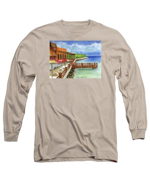 Cozumel Mexico Little Pier Long Sleeve T-Shirt by Frank Hunter