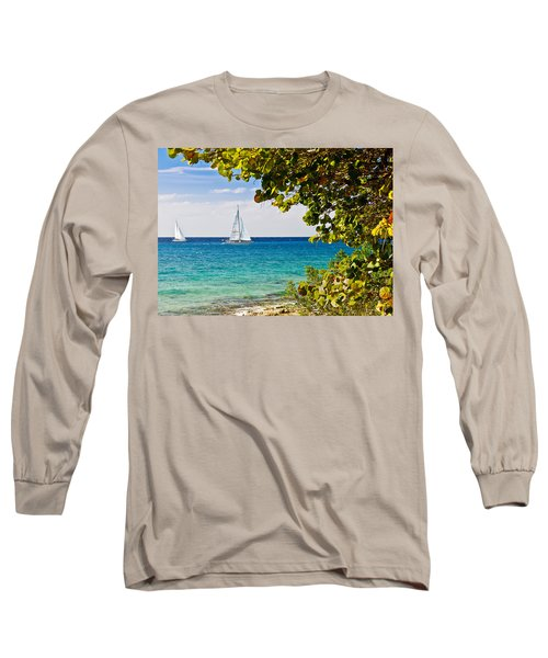 Long Sleeve T-Shirt featuring the photograph Cozumel Sailboats by Mitchell R Grosky