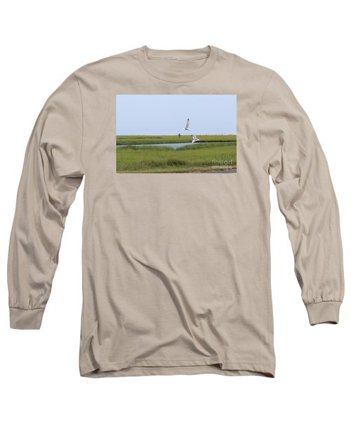 Crabber Long Sleeve T-Shirt by David Jackson