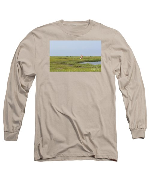 Crabbing At Mystic Island Long Sleeve T-Shirt by David Jackson