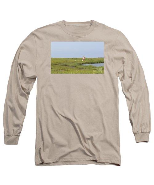 Crabbing At Mystic Island Long Sleeve T-Shirt