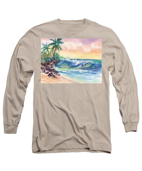Crashing Waves At Sunrise Long Sleeve T-Shirt