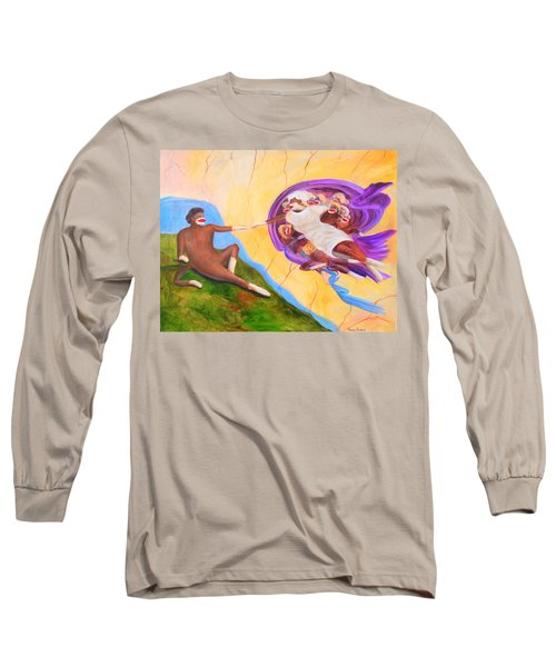 Creation Of A Sock Monkey Long Sleeve T-Shirt