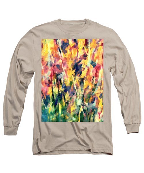 Crescendo Of Spring Abstract Long Sleeve T-Shirt
