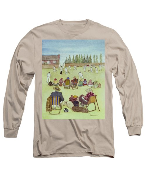 Cricket On The Green, 1987 Watercolour On Paper Long Sleeve T-Shirt