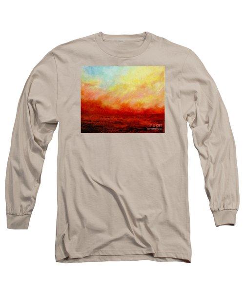 Crimson Long Sleeve T-Shirt by Teresa Wegrzyn
