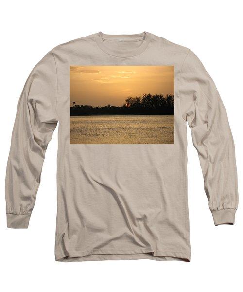 Long Sleeve T-Shirt featuring the photograph Crocodile Eye by Kathy Barney